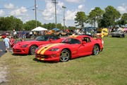 Red Yellow Stripes Dodge Viper GTS