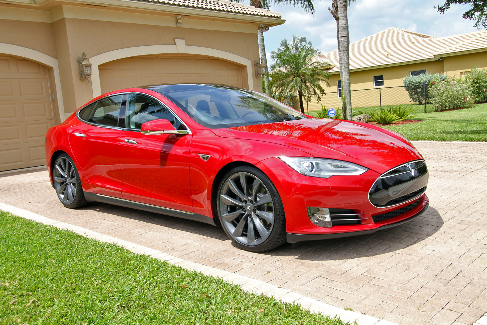 2013 Tesla Model S P85 Multi Coat Red Pictures Dragtimes