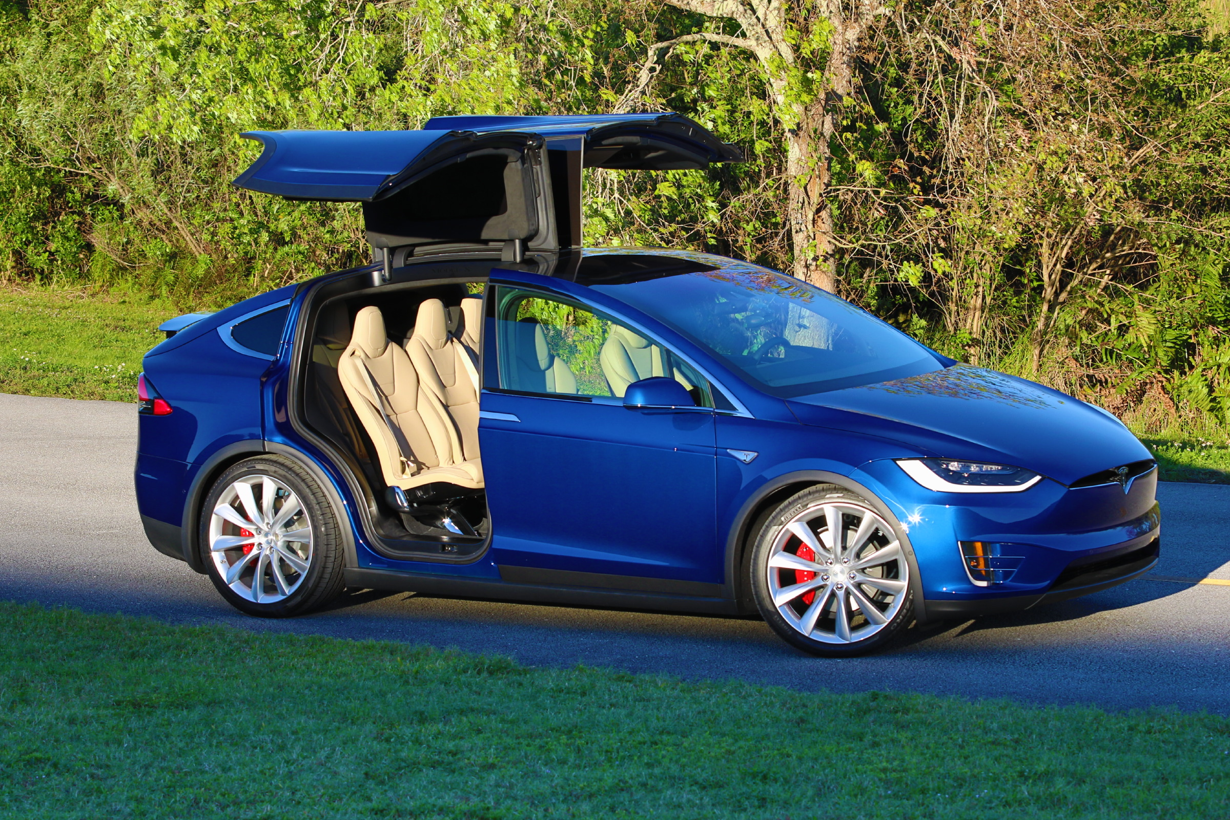 2016 Tesla Model X P90d Deep Blue Metallic Picture Gallery Dragtimes Com Drag Racing Fast