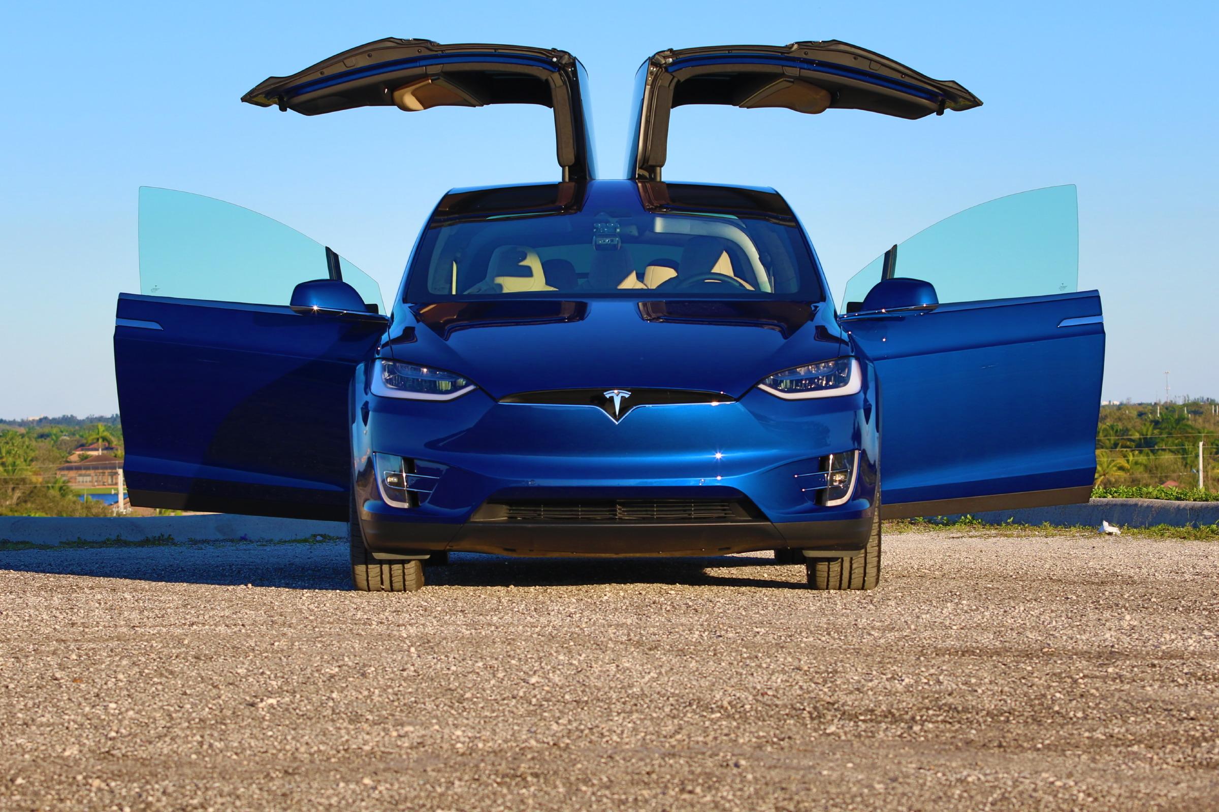 Mustang 0 60 >> 2016 Tesla Model X P90D Deep Blue Metallic Picture Gallery   DragTimes.com Drag Racing, Fast ...