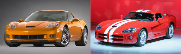 2008 SRT-10 Viper vs Z06 Corvette