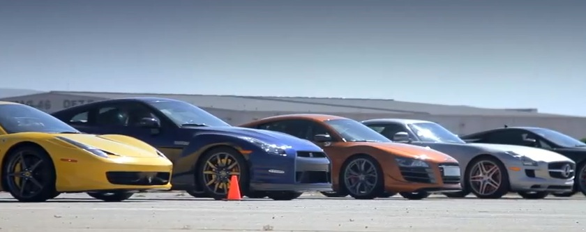 Nissan Gt R Beats All In A Super Car Drag Race Dragtimes Com