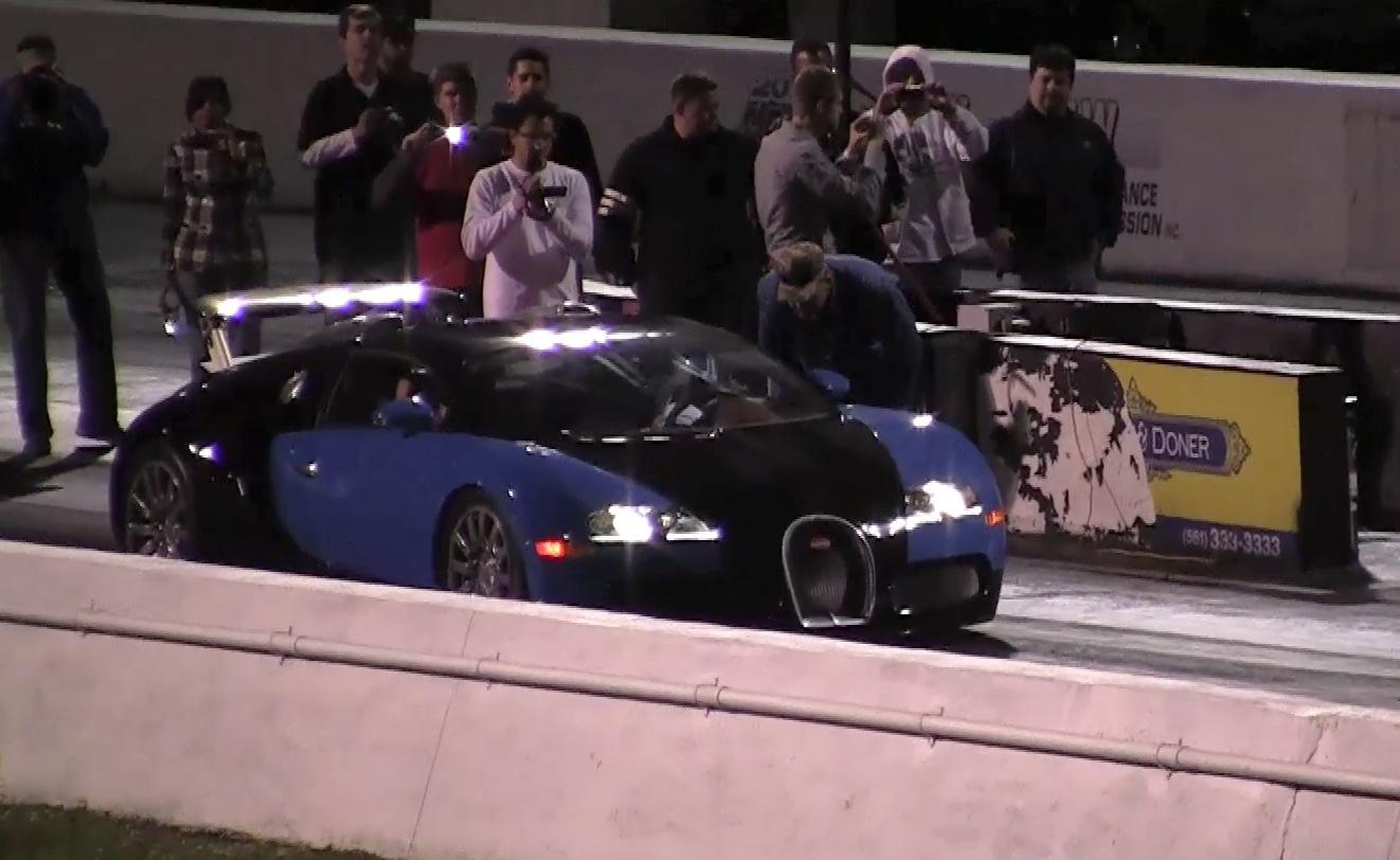 Bugatti Veyron 16.4 First Real World Drag Racing 1/4 Mile Run 10.1