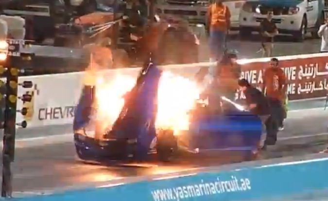 Camaro Nitrous Explosion Dragtimes Com Drag Racing Fast