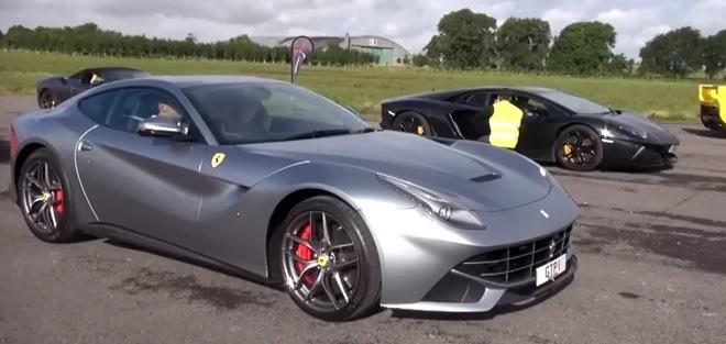 Ferrari F12-vs-Lamborghini-Aventador