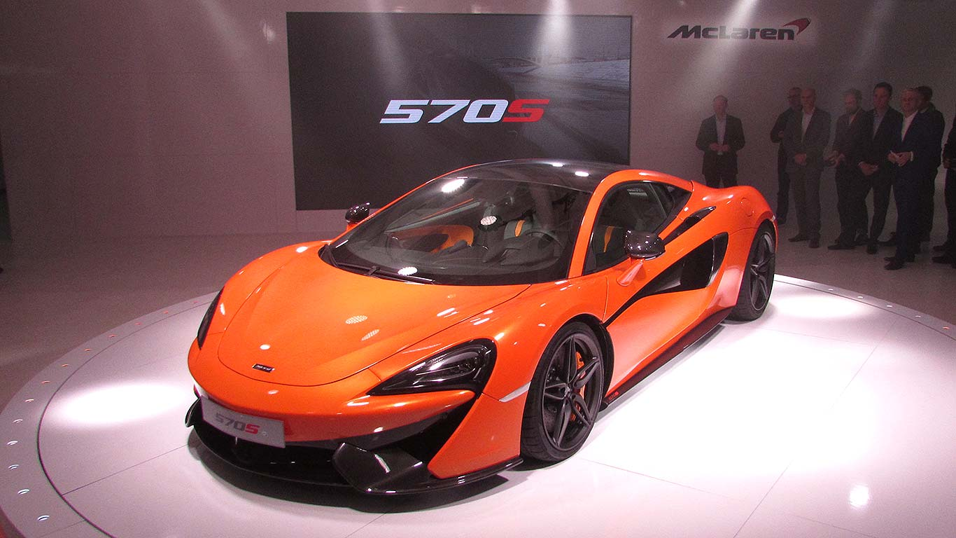 2015 Mclaren 570s Debuts In New York City Dragtimes Com