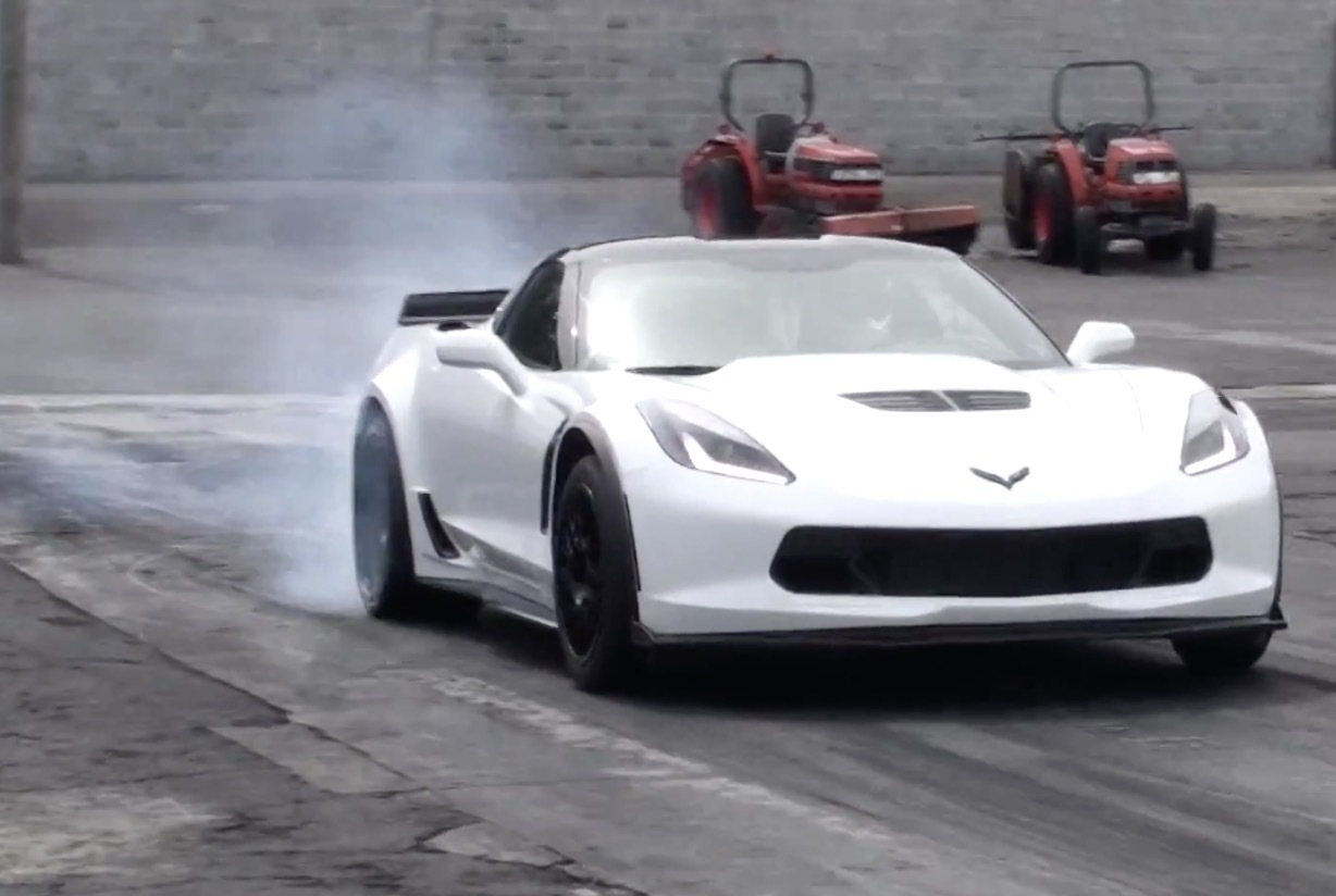 Stock 2015 Corvette Z06 with automatic transmission runs 10 3 @ 131