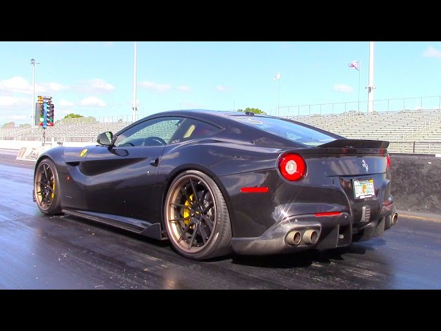 Ferrari F12 Berlinetta Drag Run