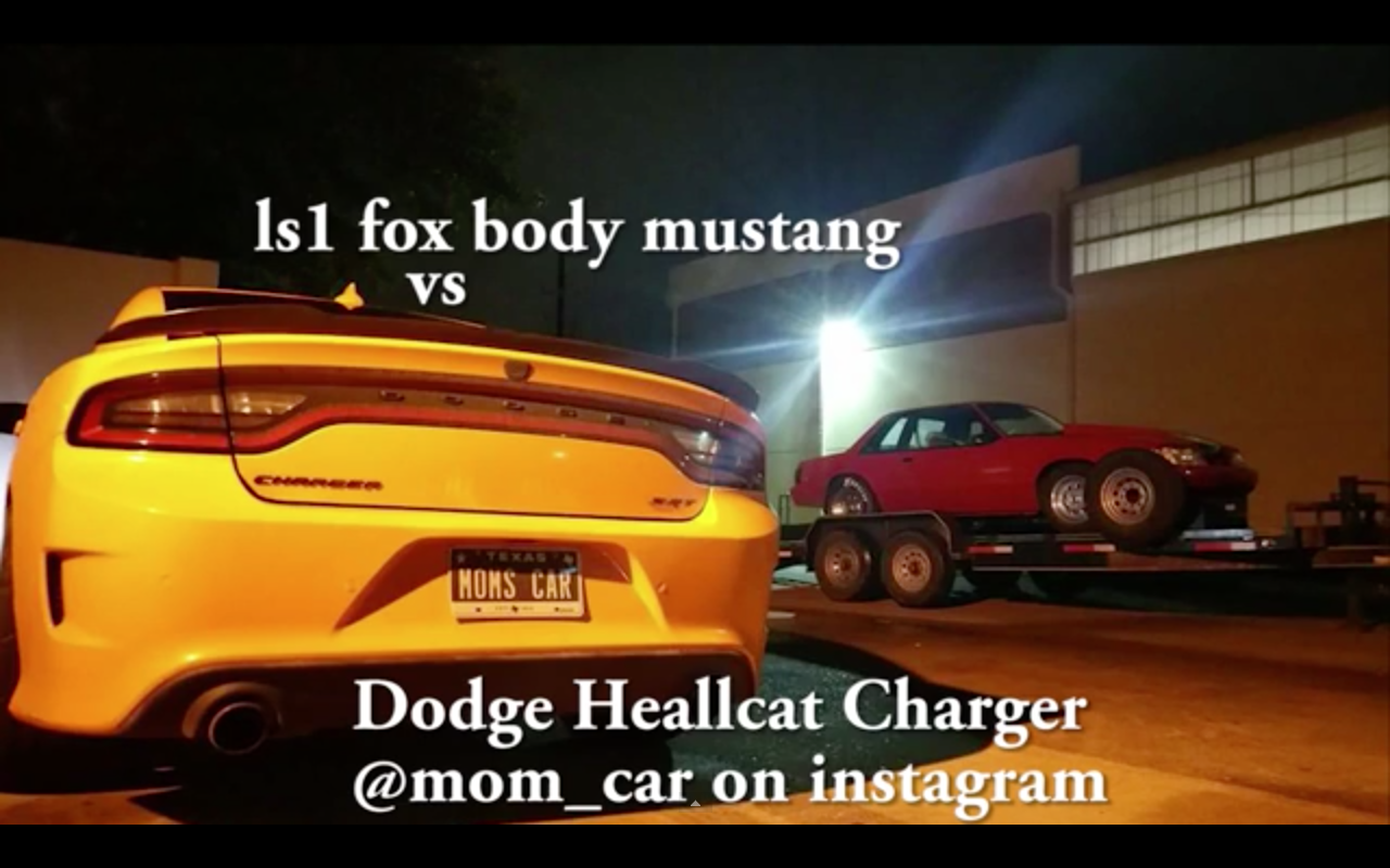 dodge Charger Hellcat vs LS1 Mustang