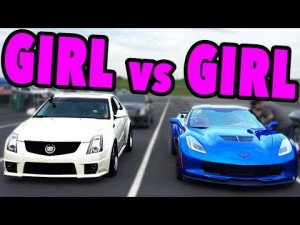 Girl on Girl Action Drag Racing That Is