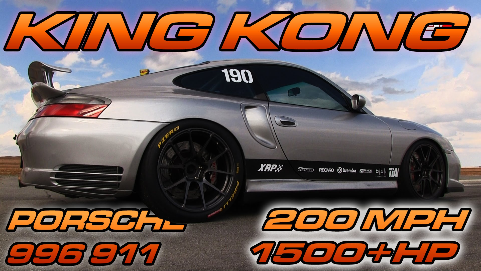 1500HP Porsche 911 – 200 MPH Half-Mile