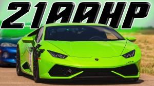 2100HP Lamborghini Huracan busts 200MPH