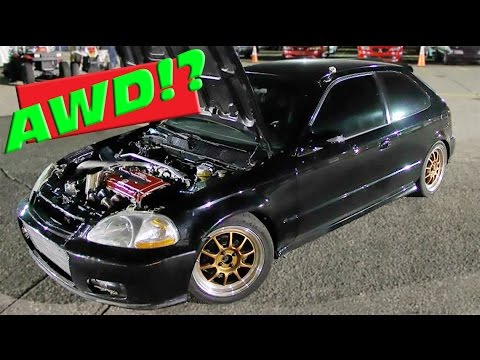 700HP AWD Civic Taking It to the Streets