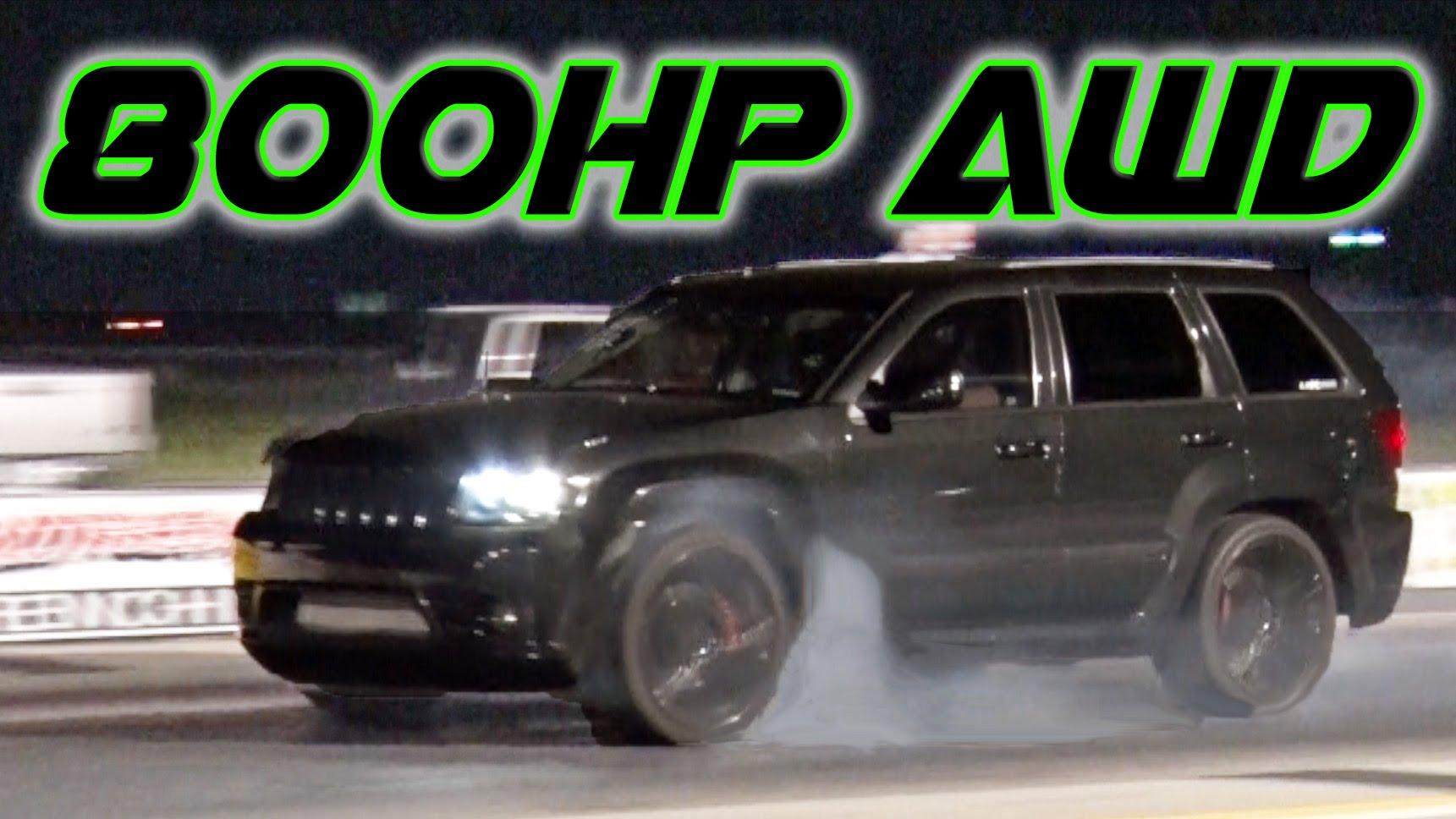 Drag Racing 800HP AWD Jeep SRT8
