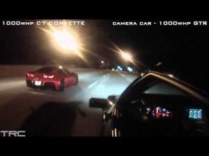 1900HP Lambo takes on a 1400HP GTR on the Streets of Atlanta