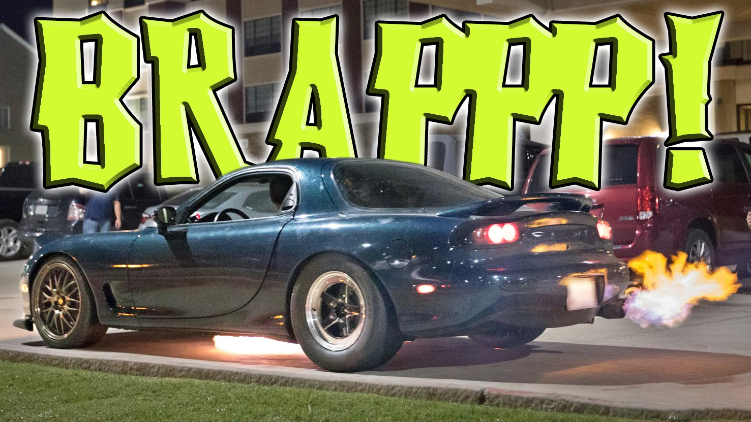 9,000 RPM Rotary Powered Mazda Belches Flames