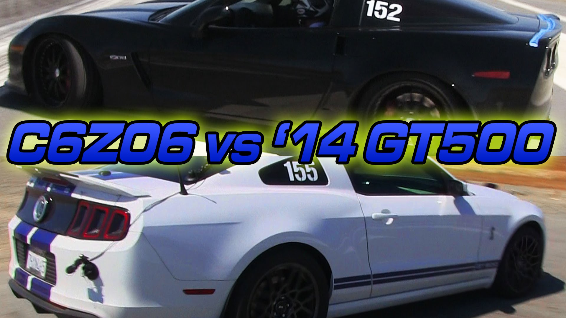 Airstrip Attack Corvette Z06 vs Mustang Shelby GT500