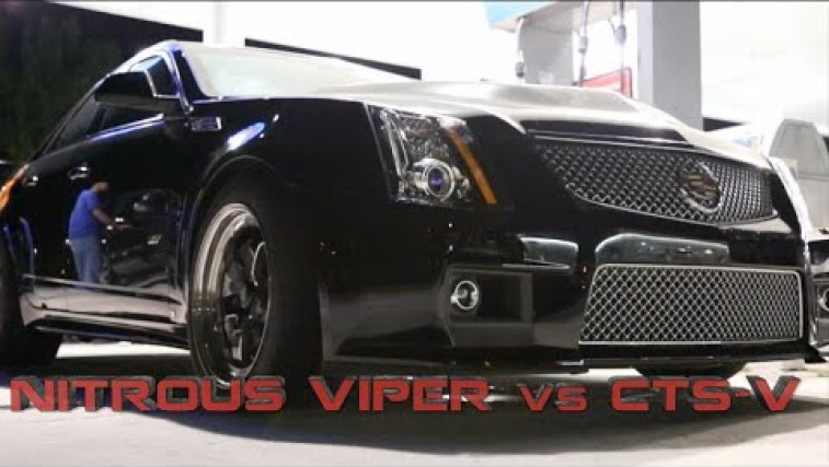 Cadillac CTS-V Battles Dodge Viper on the Street