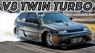 Twin Turbo V8 Powered Honda Civic