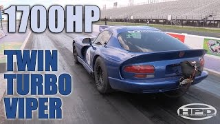 Twin Turbo Viper Runs 8.39-Second Quarter-Mile