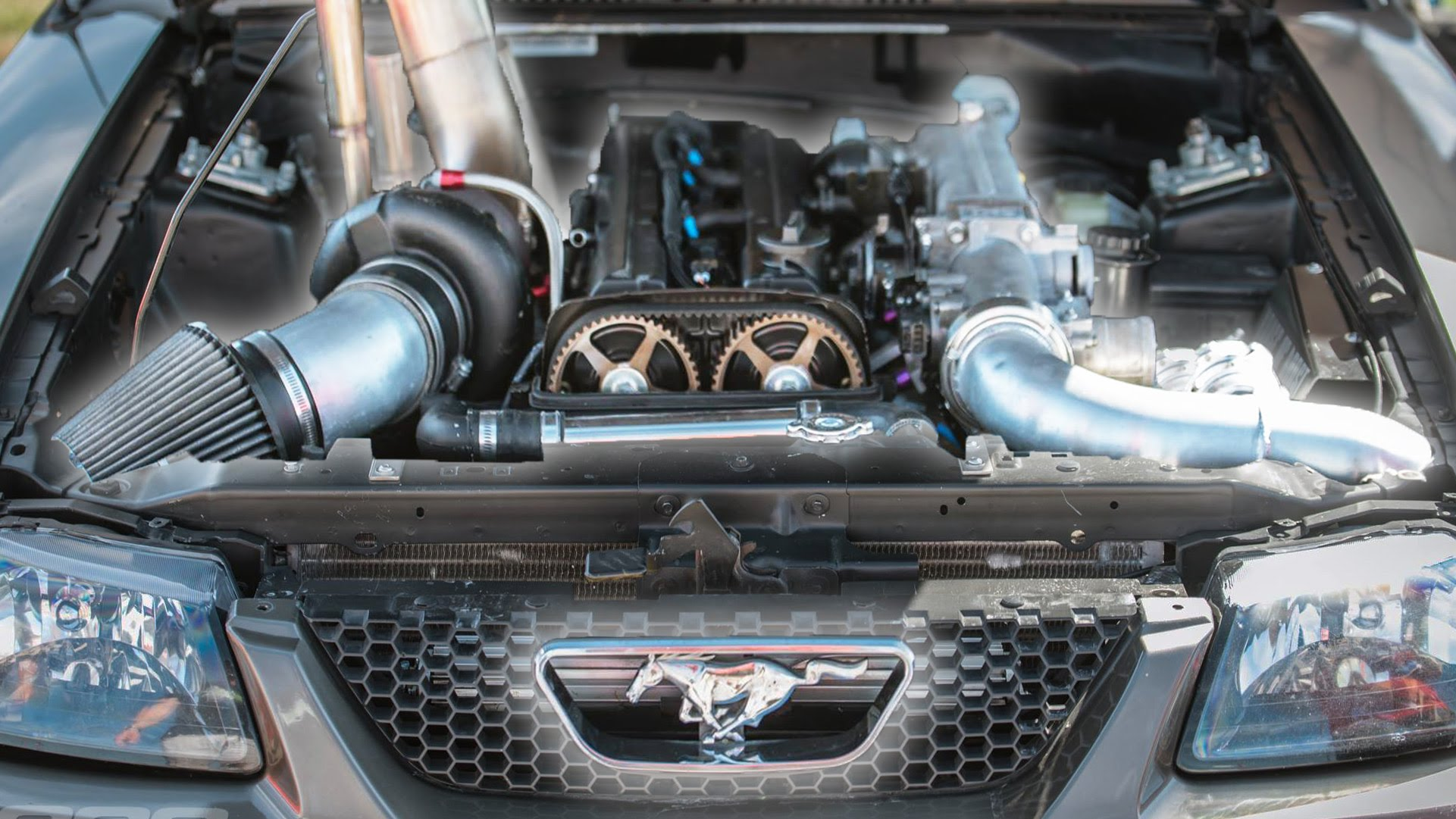 Turbo 2JZ-GTE Equipped Mustang
