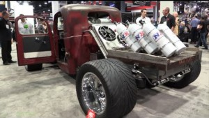 Turbo-Diesel Rat Rod Running 6 Nitrous Bottles