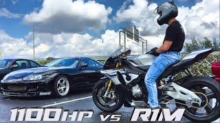 Turbo Supra Takes On a Yamaha R1M in a Street Race