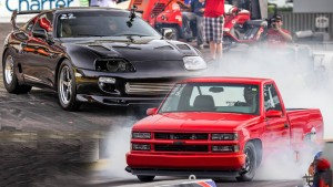 Drag Racing - Turbo Toyota Supra vs TT Chevy 1500