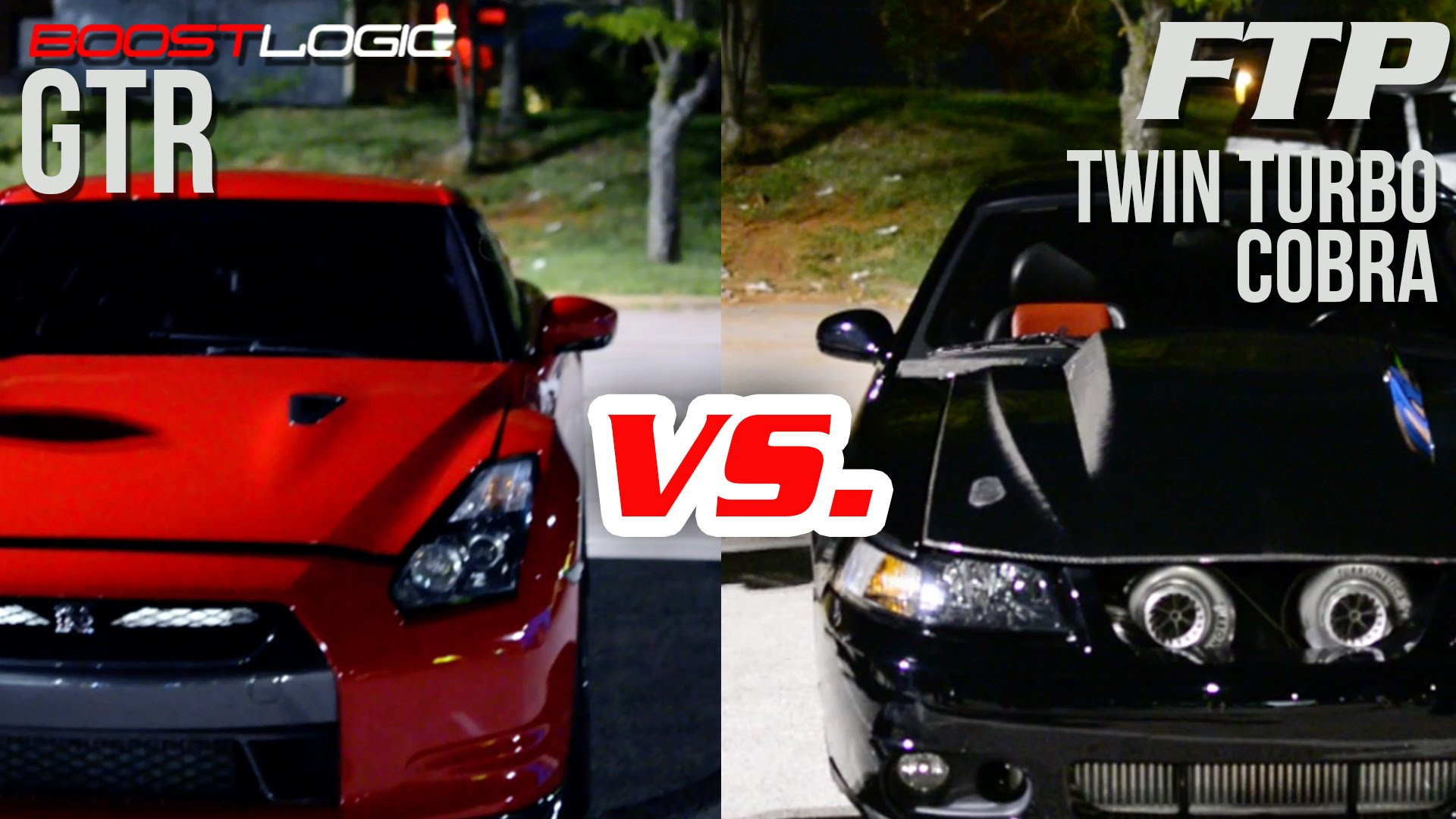 Street Racing - 1300HP GT-R vs. 1100HP TT Mustang Cobra