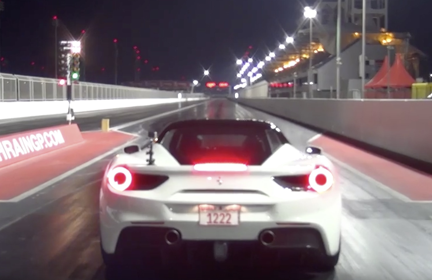 Ferrari 488 GTB runs 10.37 @ 137 MPH Drag Racing 1/4 Mile