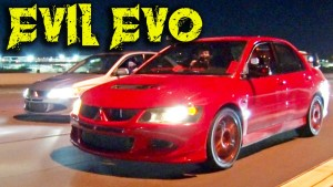 Import Street Shootout - Mitsubishi Evo vs. Honda Civic