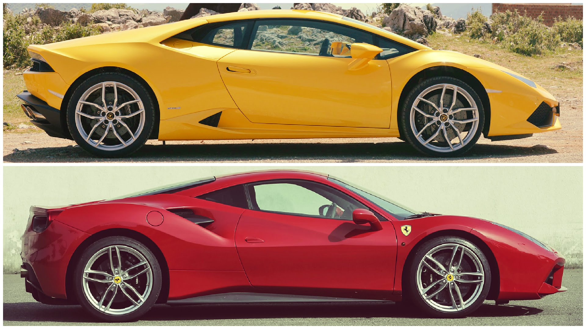 battle of the italians ferrari 488 gtb vs lamborghini. Black Bedroom Furniture Sets. Home Design Ideas