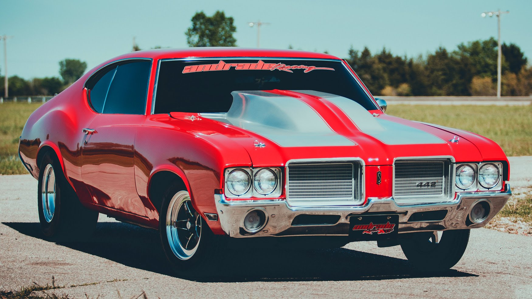 Classic Olds Cutlass with 350-Nitrous Shot