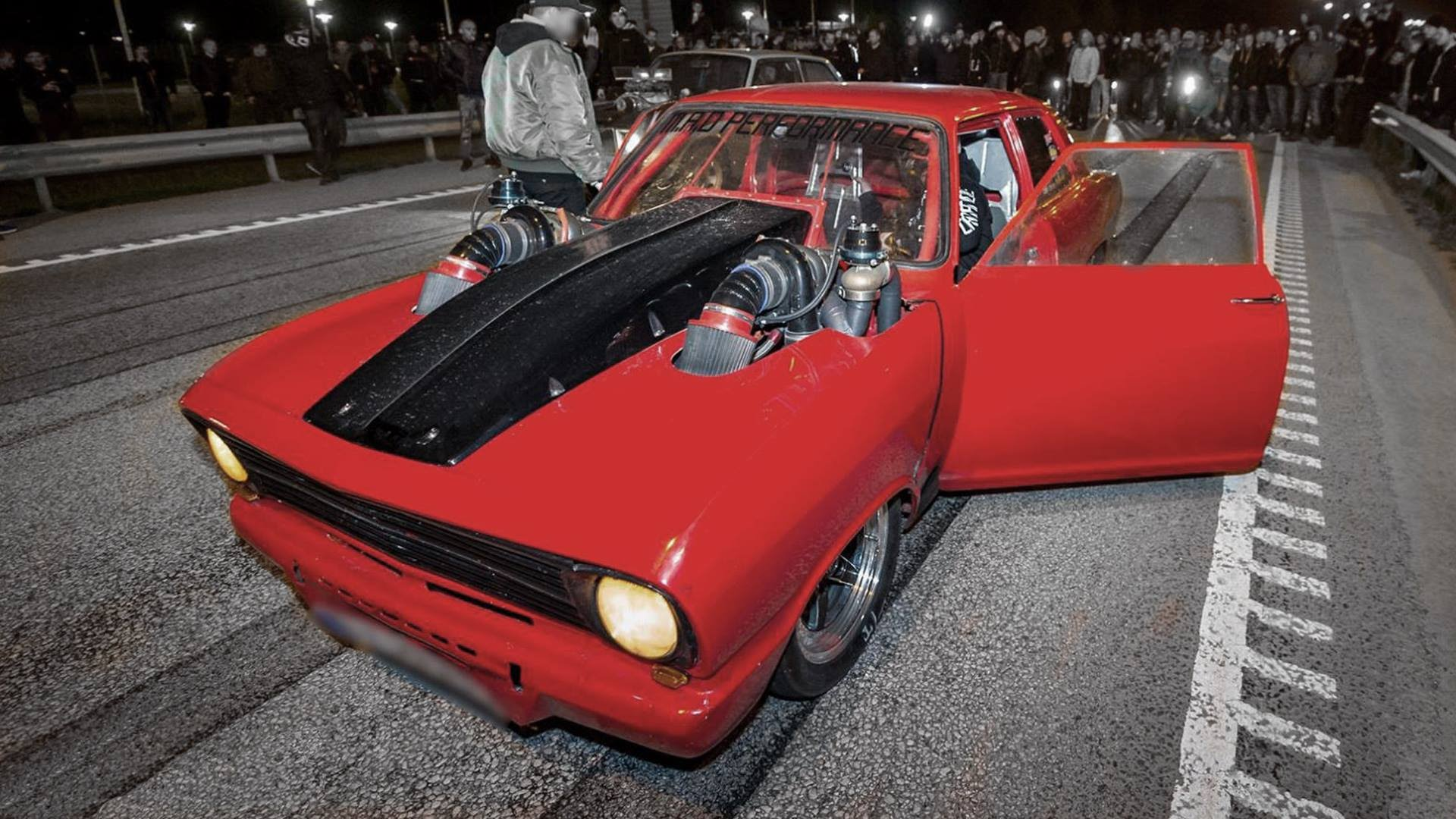Twin-Turbo Opel Tears Up the Streets
