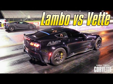 Quarter-Mile Pass - Lamborghini vs. Z06