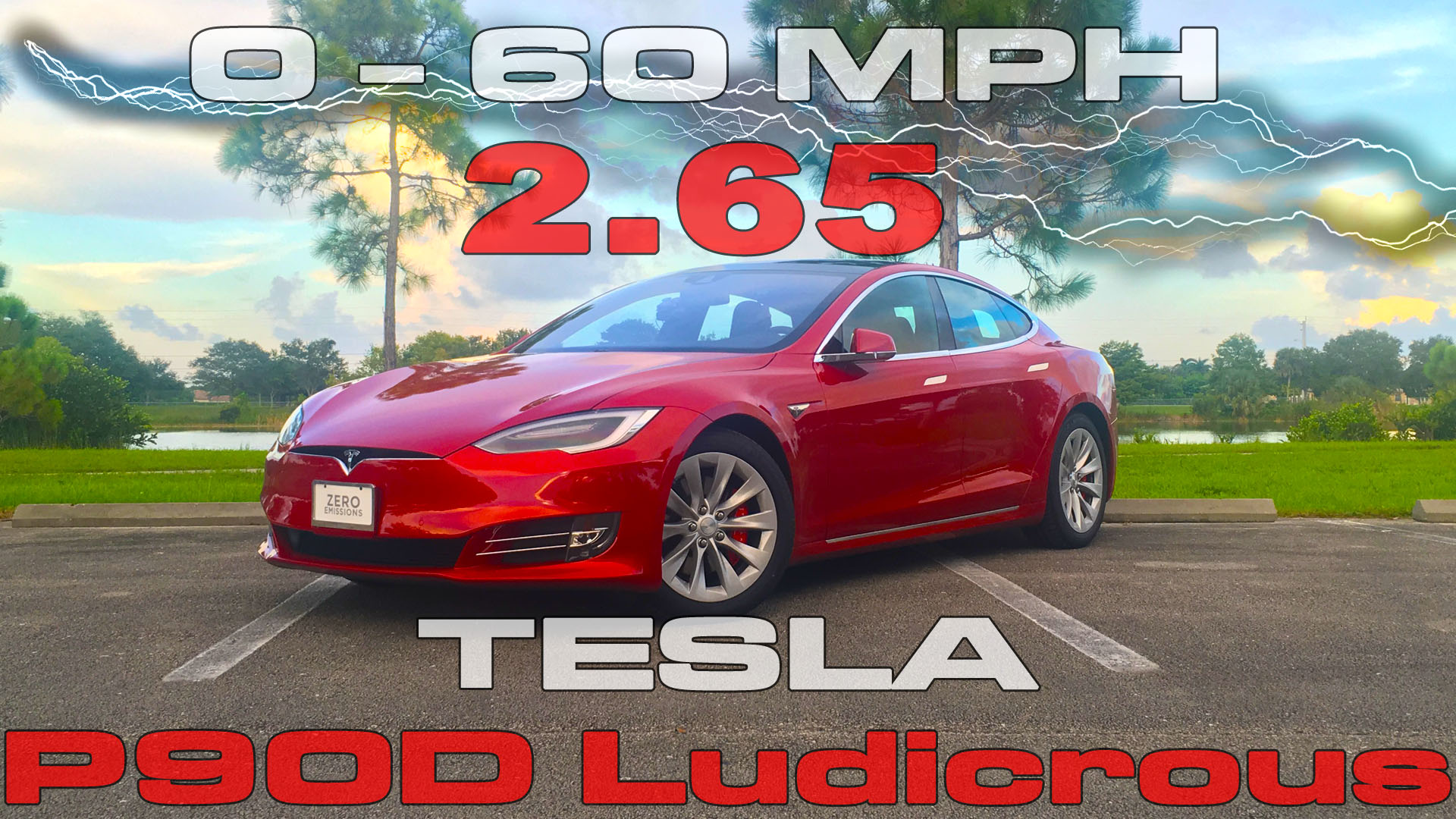 0-60 MPH in 2.65 with the Refreshed Tesla Model S P90D Ludicrous