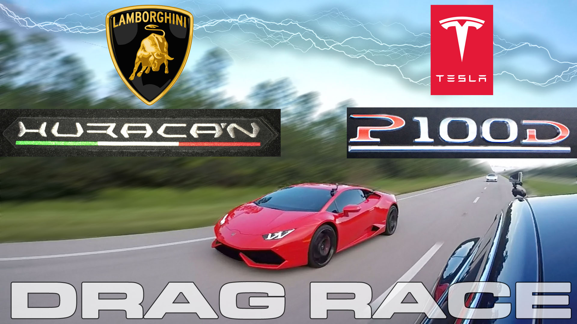 Tesla Model S P100D takes on a Lamborghini Huracan LP610-4 in a Drag Race