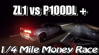 Cash Money Street Racing – Camaro ZL1 vs. Tesla P100DL+