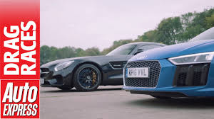 Drag Race – Mercedes AMG GT S vs. Audi R8 V10