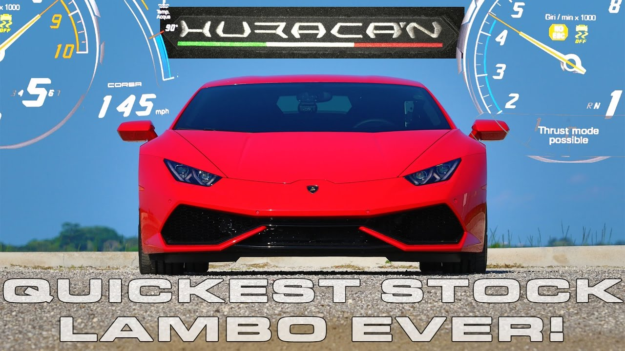 Lamborghini Huracan LP610-4 sets World Record for Quickest Stock Lambo down the 1/4 Mile