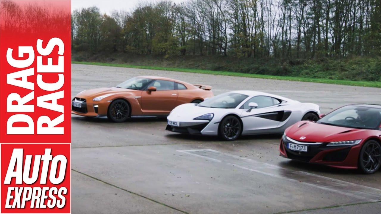 Drag Race – McLaren 540C vs Honda NSX vs Nissan GT-R