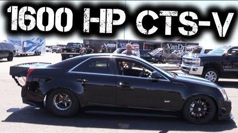 1600HP CTS-V Kills the Half-Mile