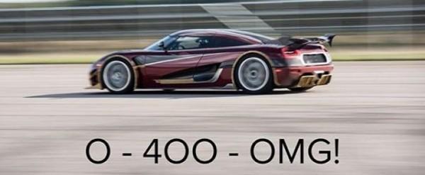1160HP Koenigsegg Agera RS 0-400-0