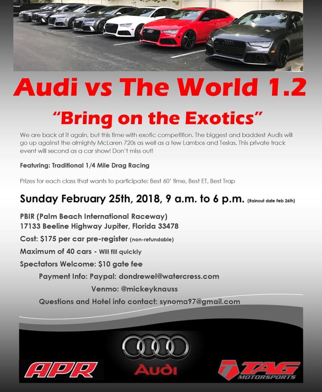 Audi vs the World – Feb 25th, 2018