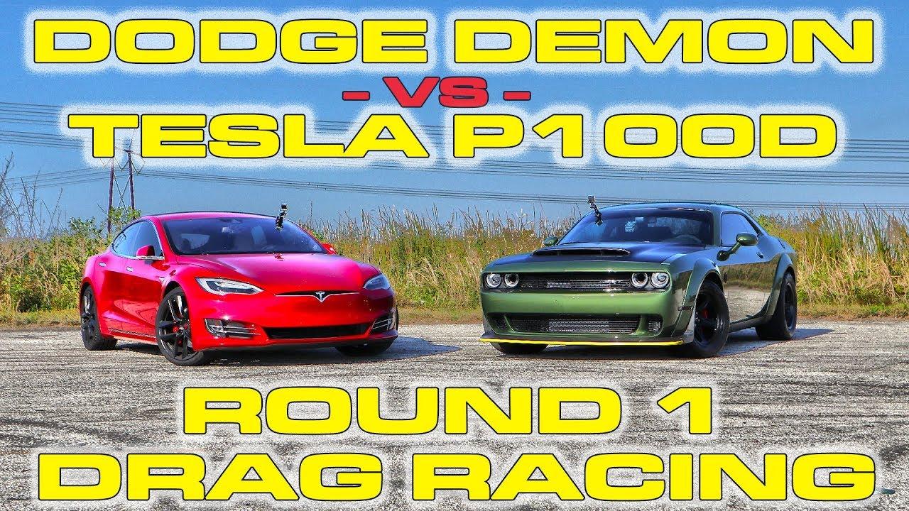 Dodge Demon vs Tesla Model S P100D