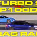 Porsche 911 Turbo S vs Tesla Model S P100D Drag Racing 1/4 MIle
