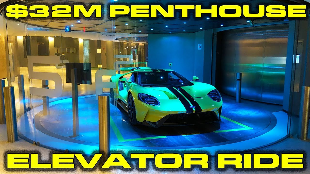 2018 Ford GT Porsche inside Elevator