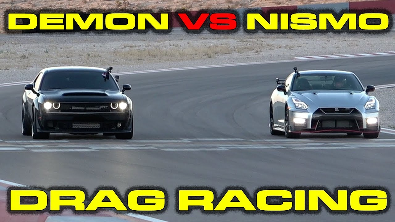 Fast and the Furious Dodge Demon vs Nissan GT-R Nismo Drag Racing at Speed Vegas