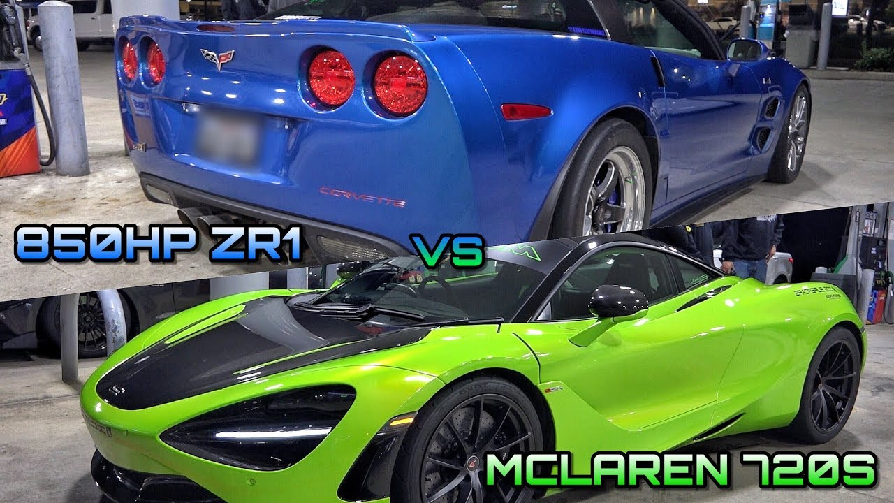 Chevy Corvette ZR1 vs. McLaren 720S – Street Hits