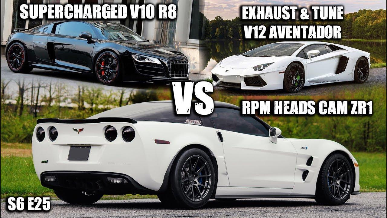 Supercharged Audi R8 vs. Lamborghini Aventador